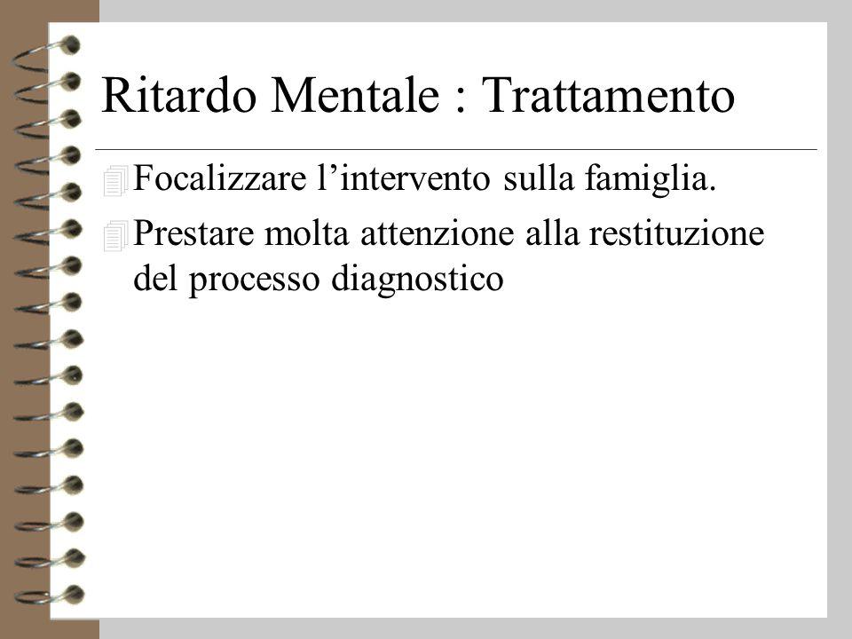 Ritardo Mentale : Trattamento
