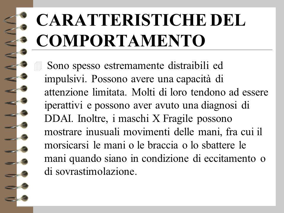 CARATTERISTICHE DEL COMPORTAMENTO