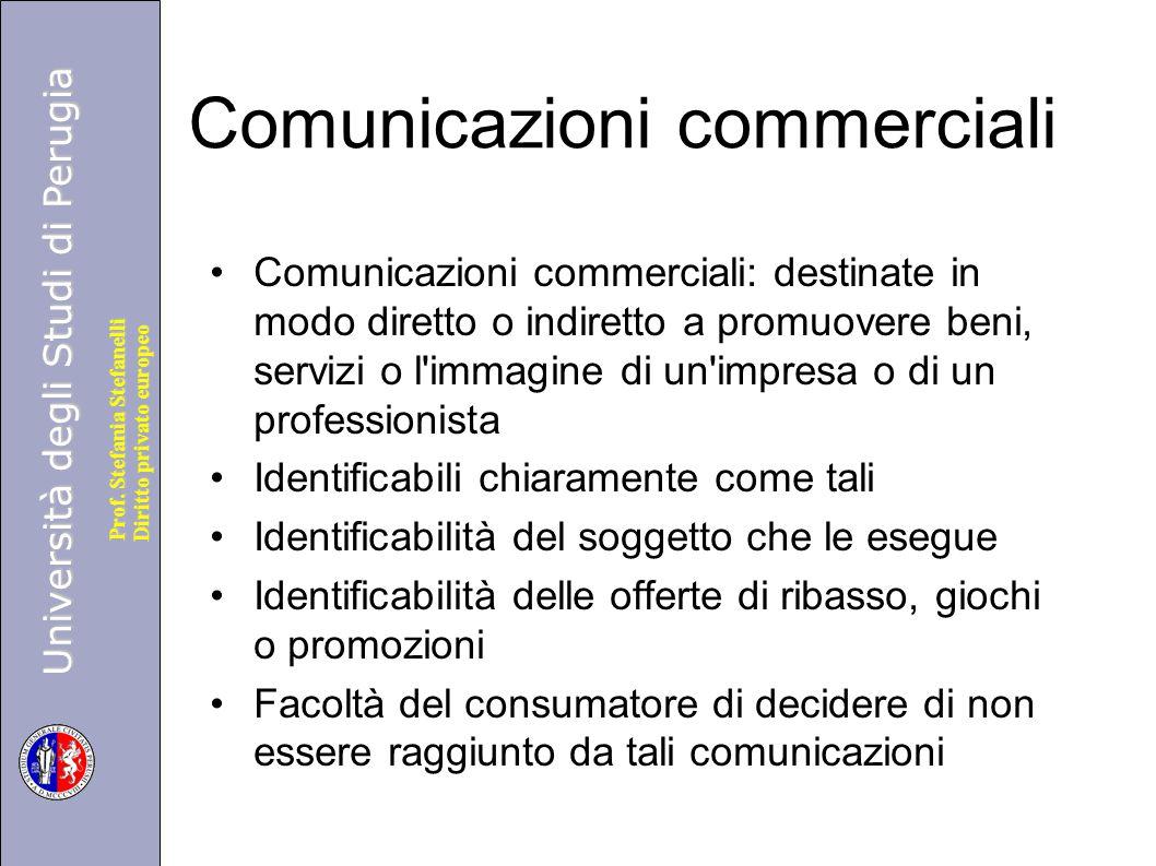 Comunicazioni commerciali