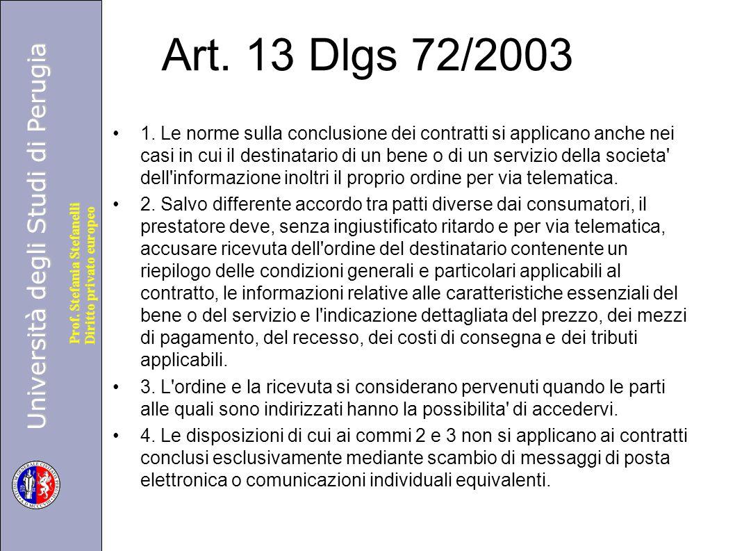 Art. 13 Dlgs 72/2003