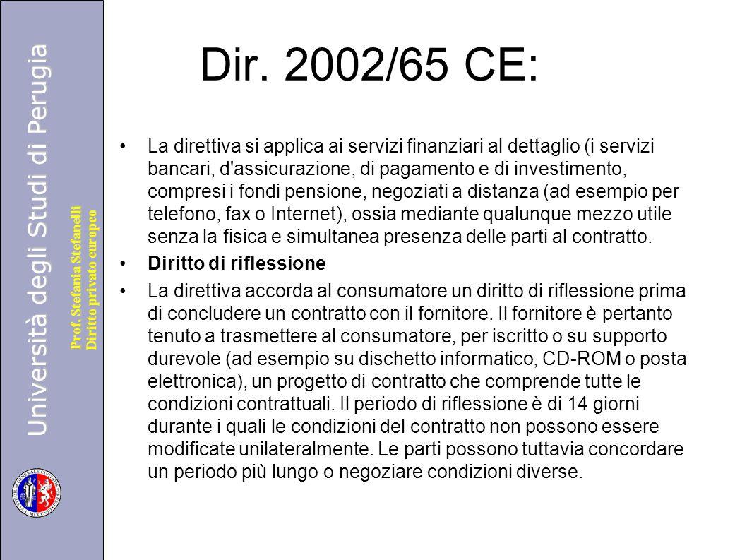 Dir. 2002/65 CE: