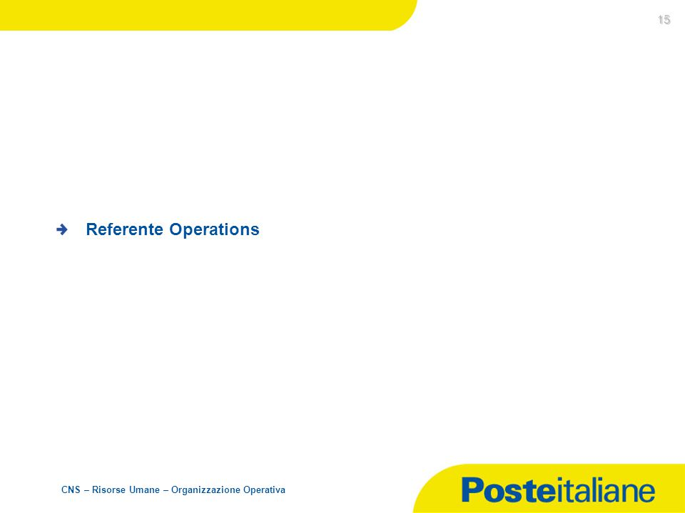 Referente Operations