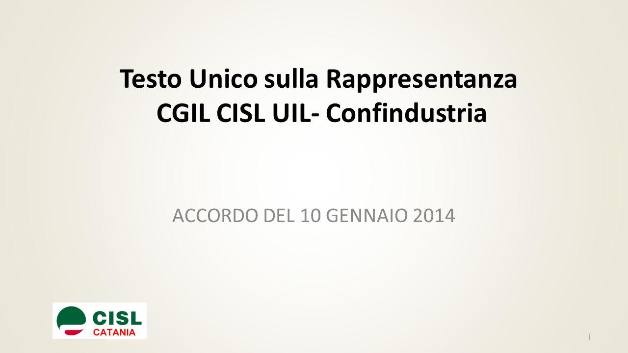Testo Unico sulla Rappresentanza CGIL CISL UIL- Confindustria