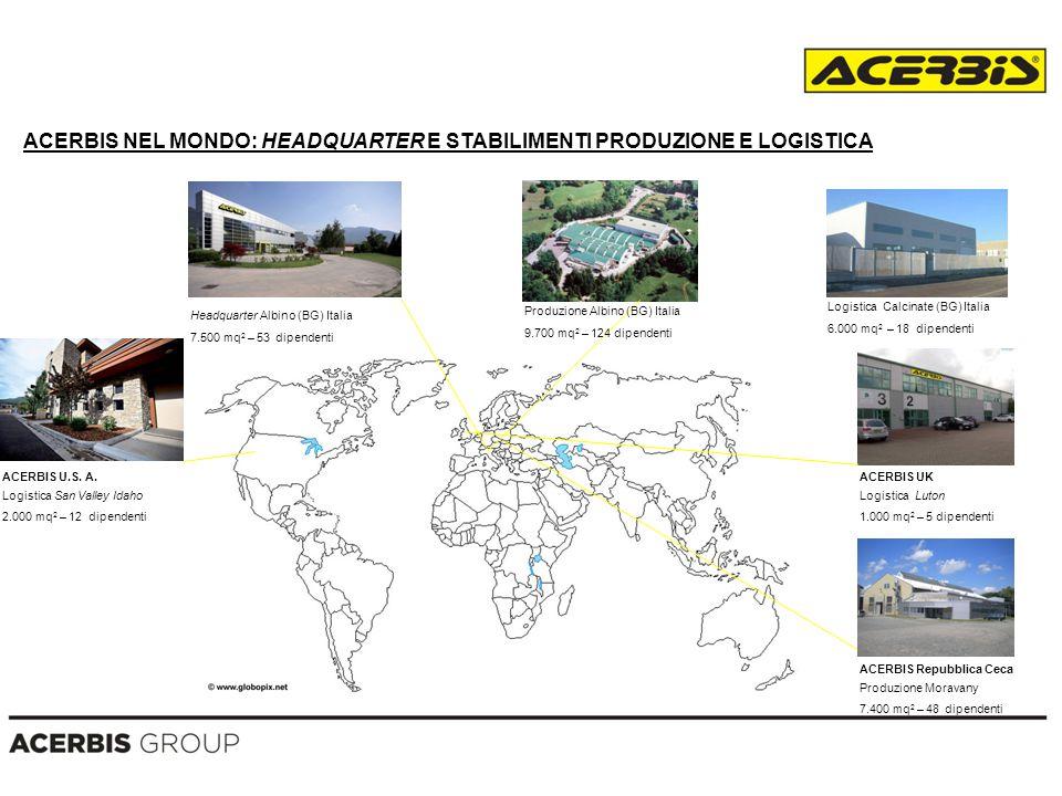ACERBIS NEL MONDO: HEADQUARTER E STABILIMENTI PRODUZIONE E LOGISTICA