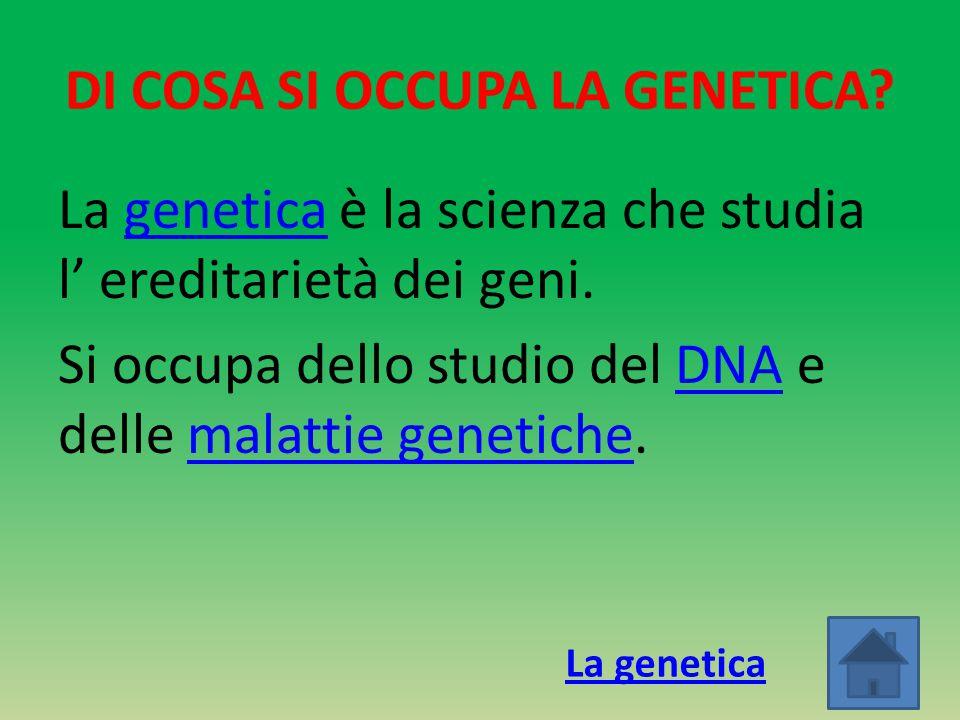 DI COSA SI OCCUPA LA GENETICA