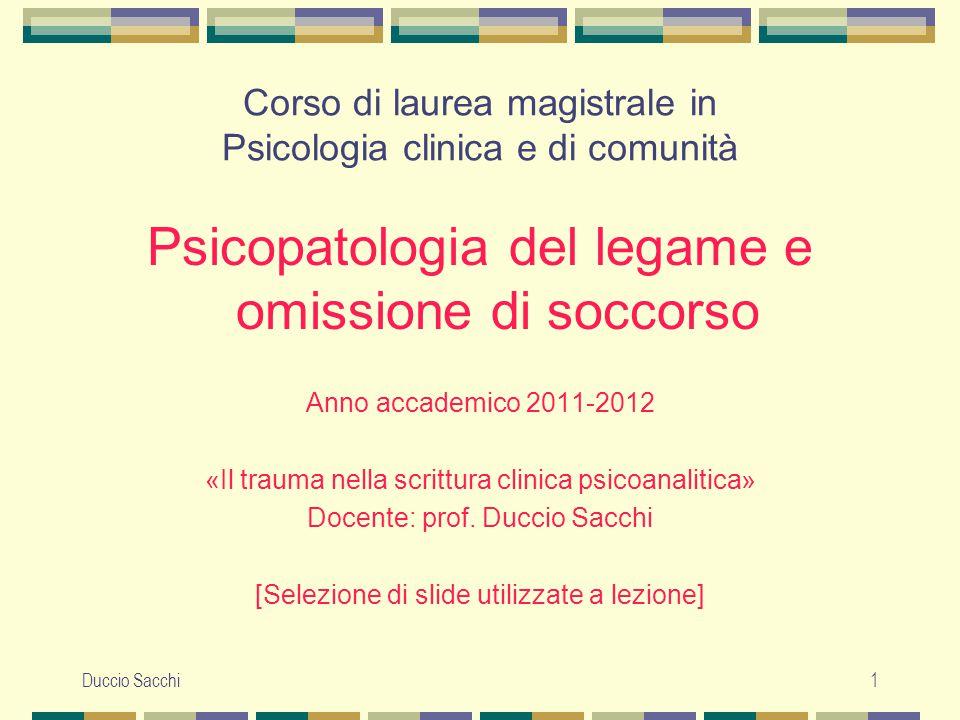 Corso di laurea magistrale in Psicologia clinica e di comunità