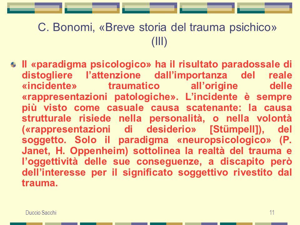 C. Bonomi, «Breve storia del trauma psichico» (III)
