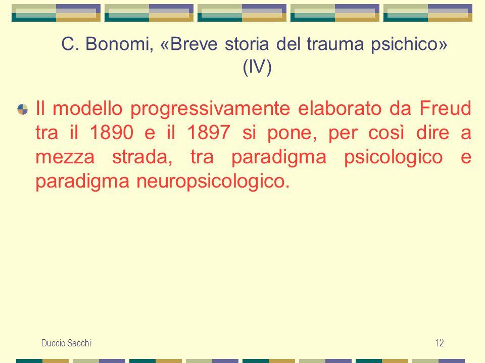C. Bonomi, «Breve storia del trauma psichico» (IV)