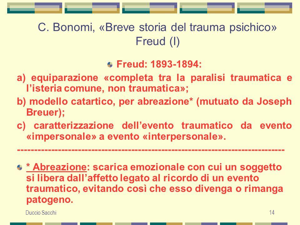 C. Bonomi, «Breve storia del trauma psichico» Freud (I)