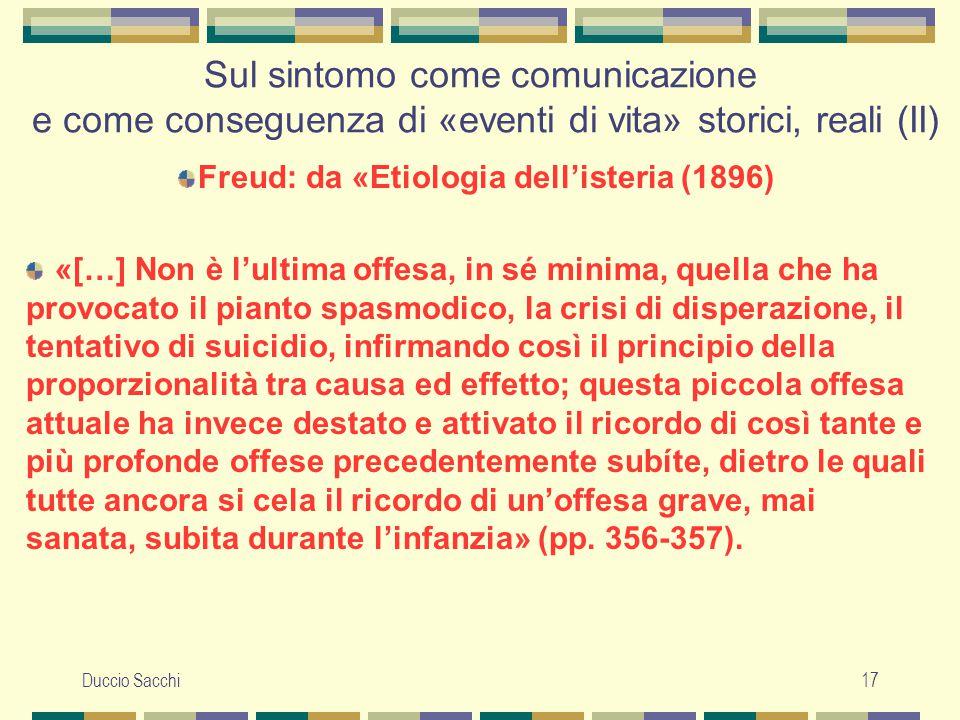 Freud: da «Etiologia dell'isteria (1896)