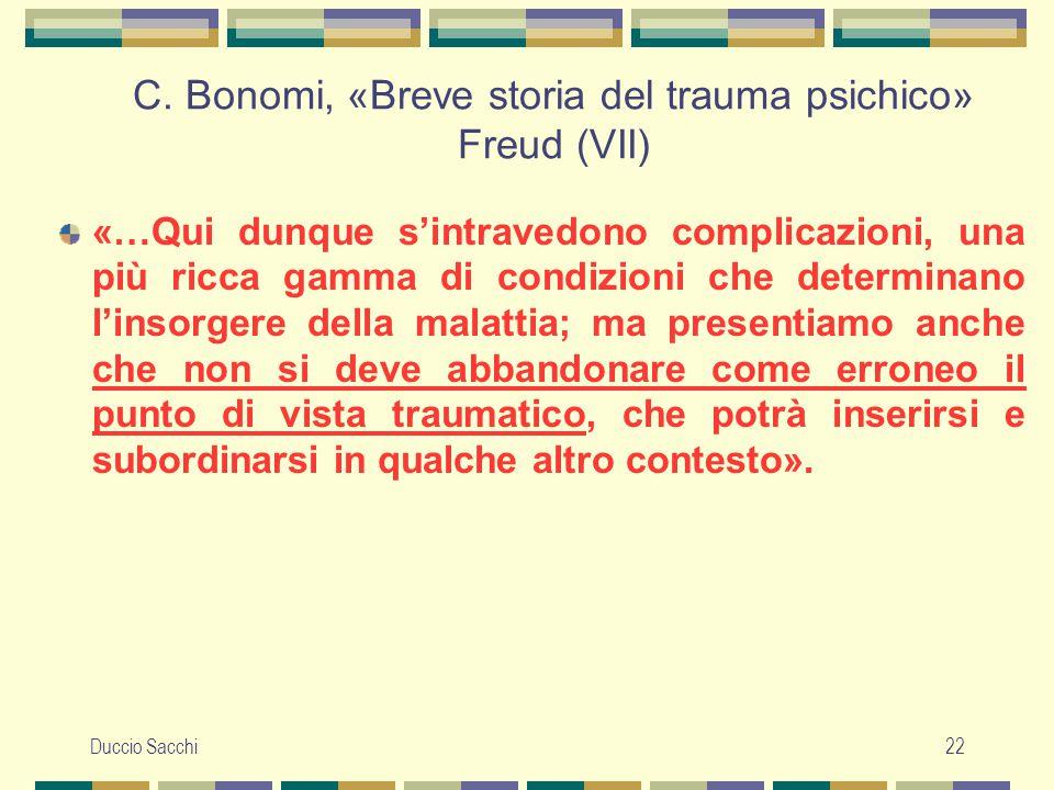 C. Bonomi, «Breve storia del trauma psichico» Freud (VII)