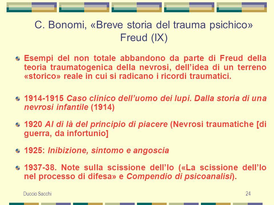 C. Bonomi, «Breve storia del trauma psichico» Freud (IX)