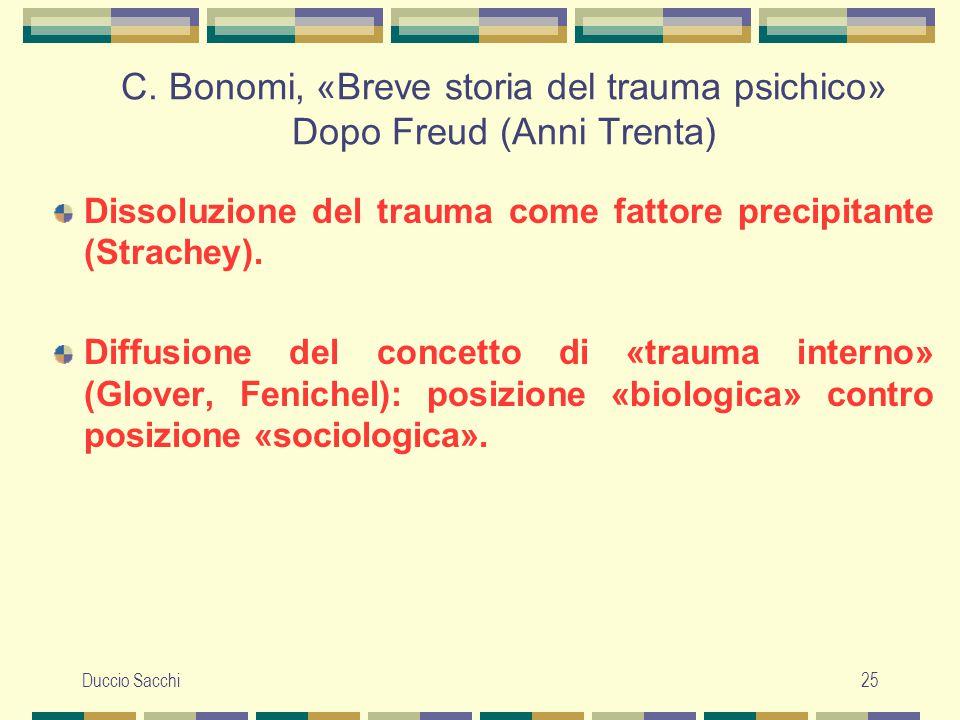 C. Bonomi, «Breve storia del trauma psichico» Dopo Freud (Anni Trenta)