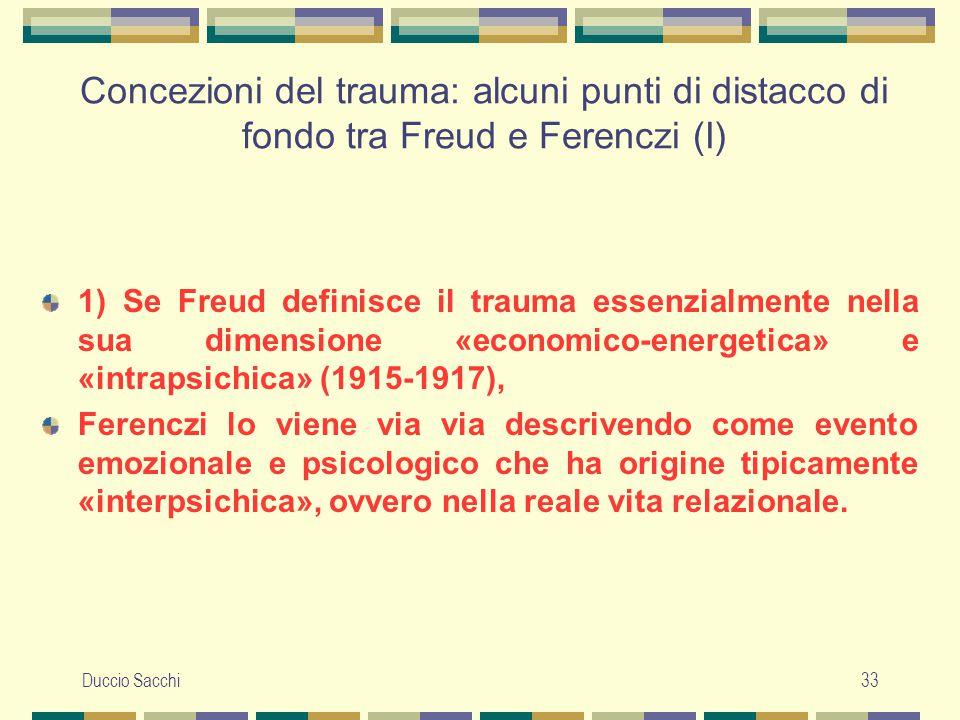 Concezioni del trauma: alcuni punti di distacco di fondo tra Freud e Ferenczi (I)