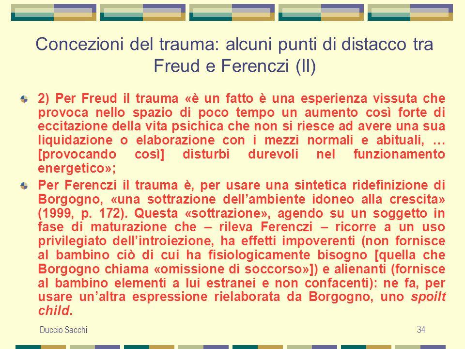 Concezioni del trauma: alcuni punti di distacco tra Freud e Ferenczi (II)