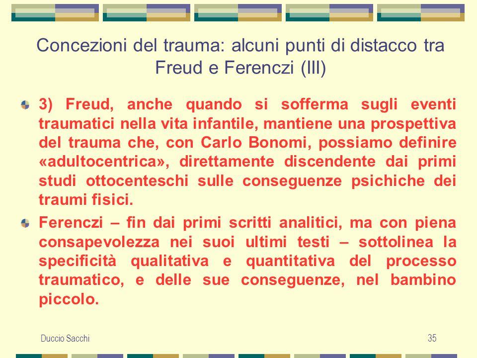 Concezioni del trauma: alcuni punti di distacco tra Freud e Ferenczi (III)