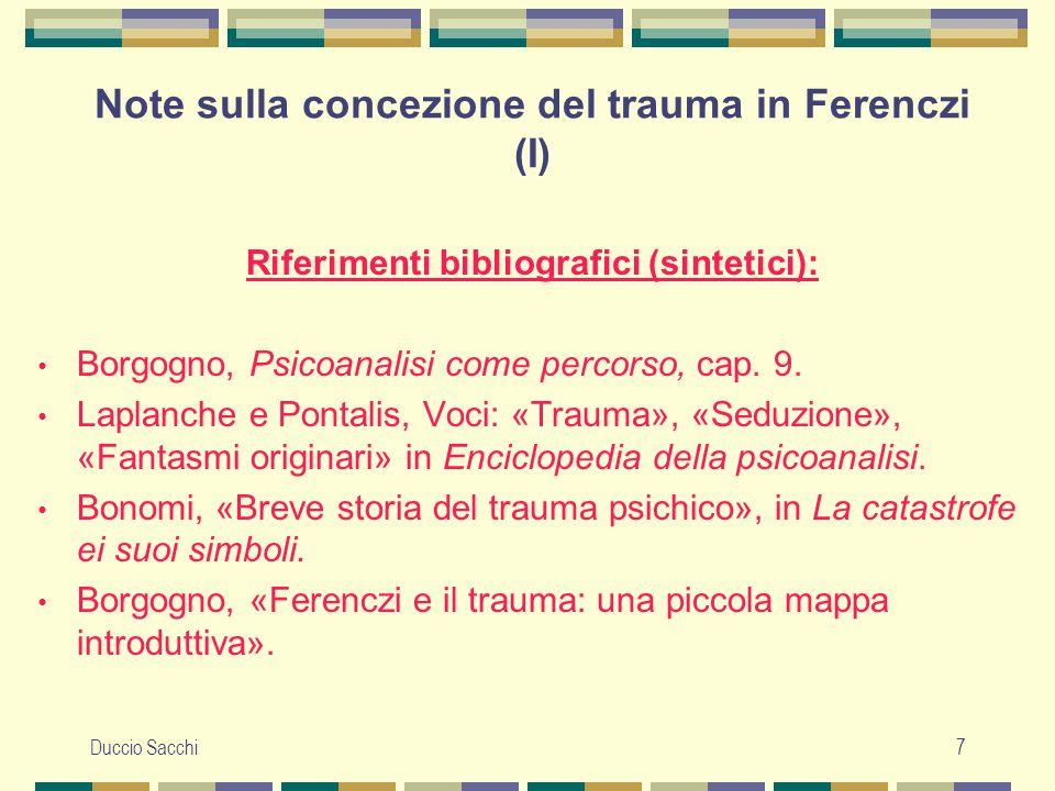Note sulla concezione del trauma in Ferenczi (I)