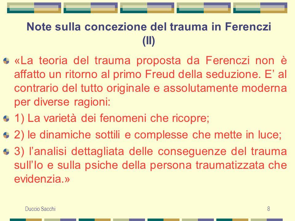 Note sulla concezione del trauma in Ferenczi (II)