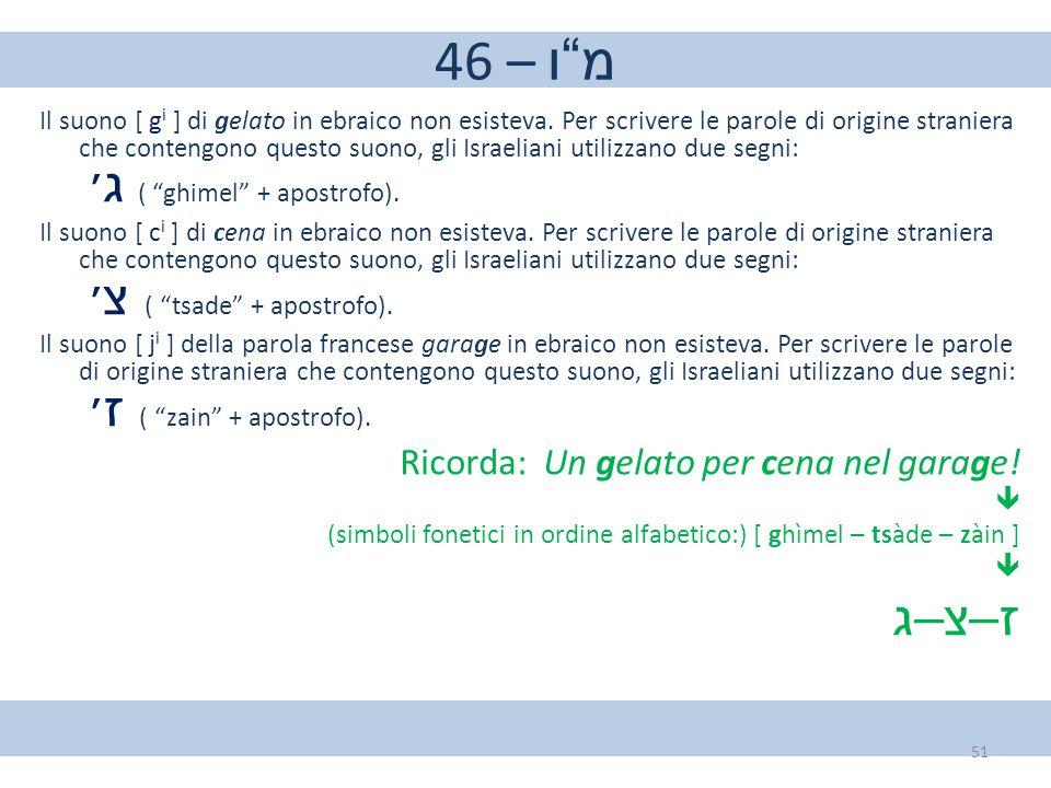 46 – מ ו ז–צ–ג Ricorda: Un gelato per cena nel garage!