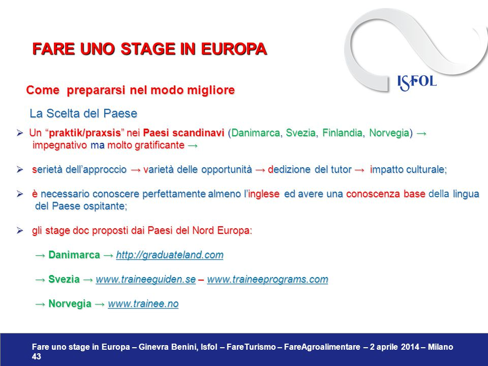 Fare uno stage in europa