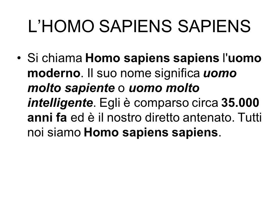 L'HOMO SAPIENS SAPIENS
