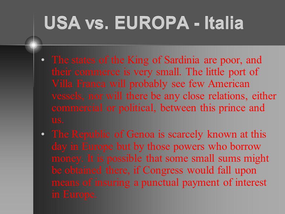 USA vs. EUROPA - Italia