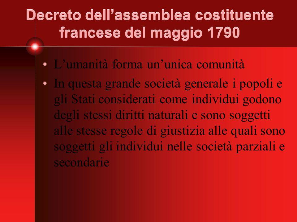 Decreto dell'assemblea costituente francese del maggio 1790