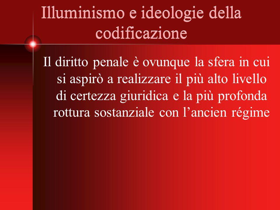 Illuminismo e ideologie della codificazione