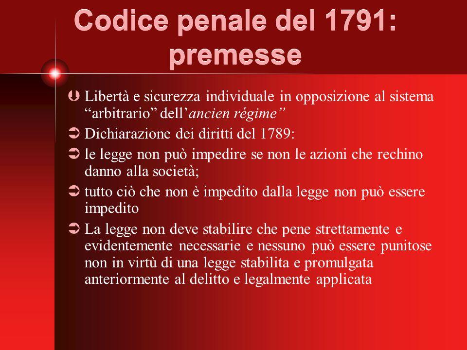 Codice penale del 1791: premesse
