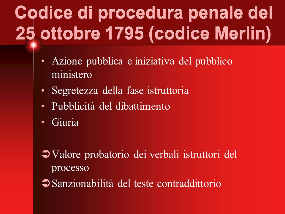 Codice di procedura penale del 25 ottobre 1795 (codice Merlin)