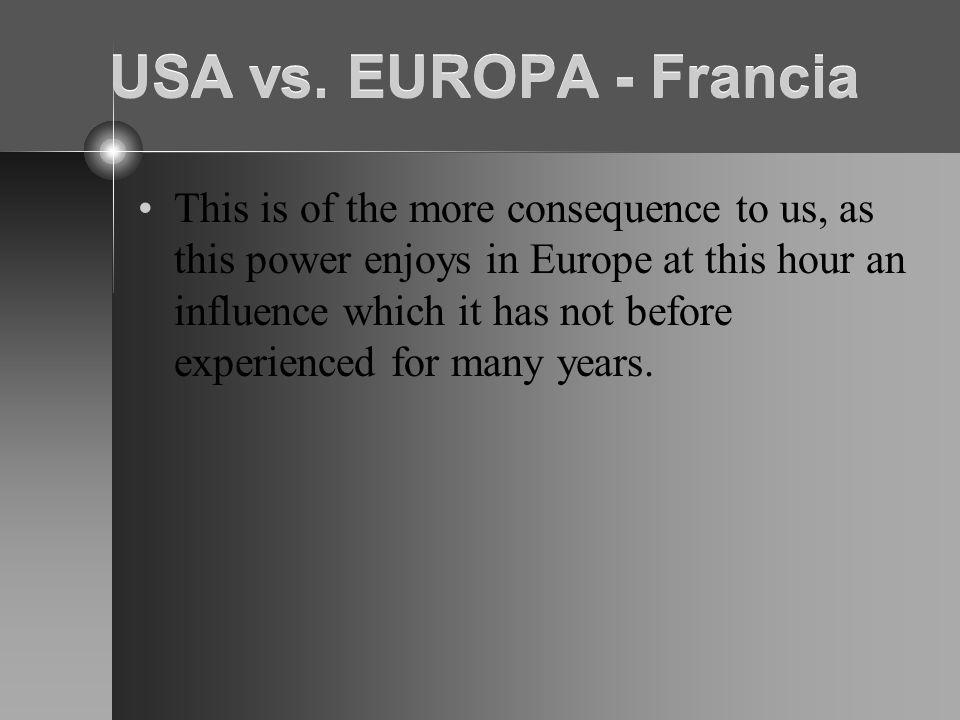 USA vs. EUROPA - Francia