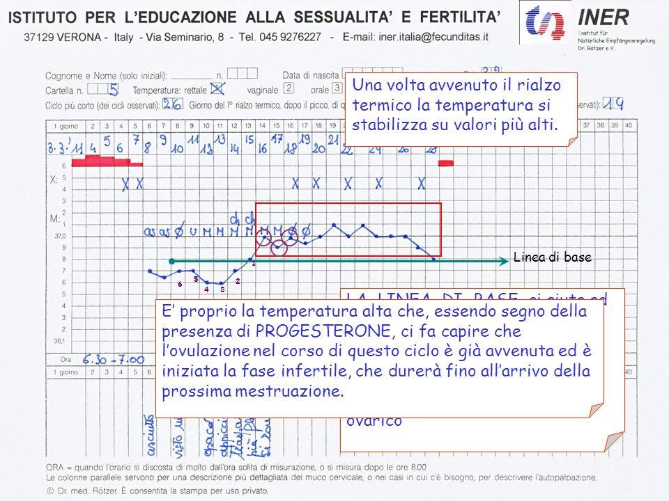 Una volta avvenuto il rialzo termico la temperatura si stabilizza su valori più alti.