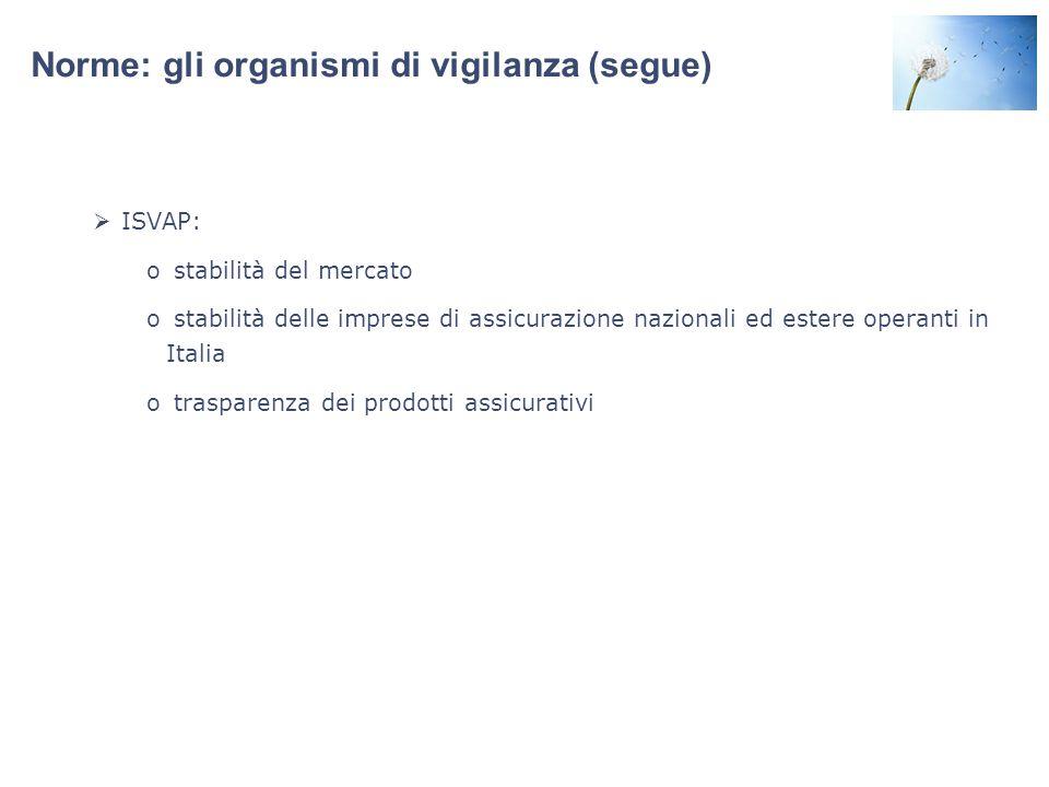 Norme: gli organismi di vigilanza (segue)
