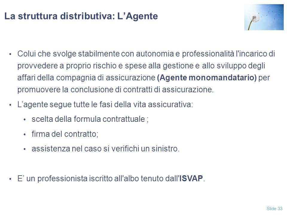 La struttura distributiva: L'Agente