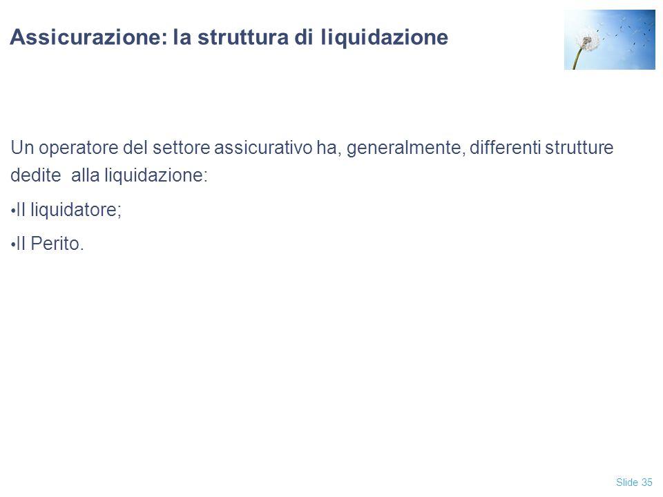 Assicurazione: la struttura di liquidazione