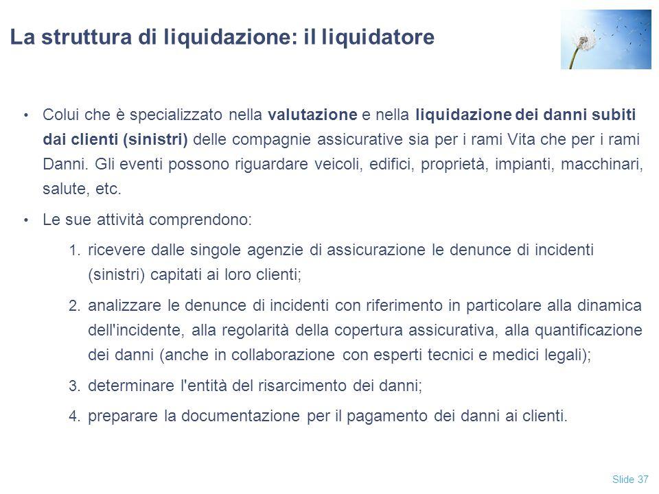 La struttura di liquidazione: il liquidatore