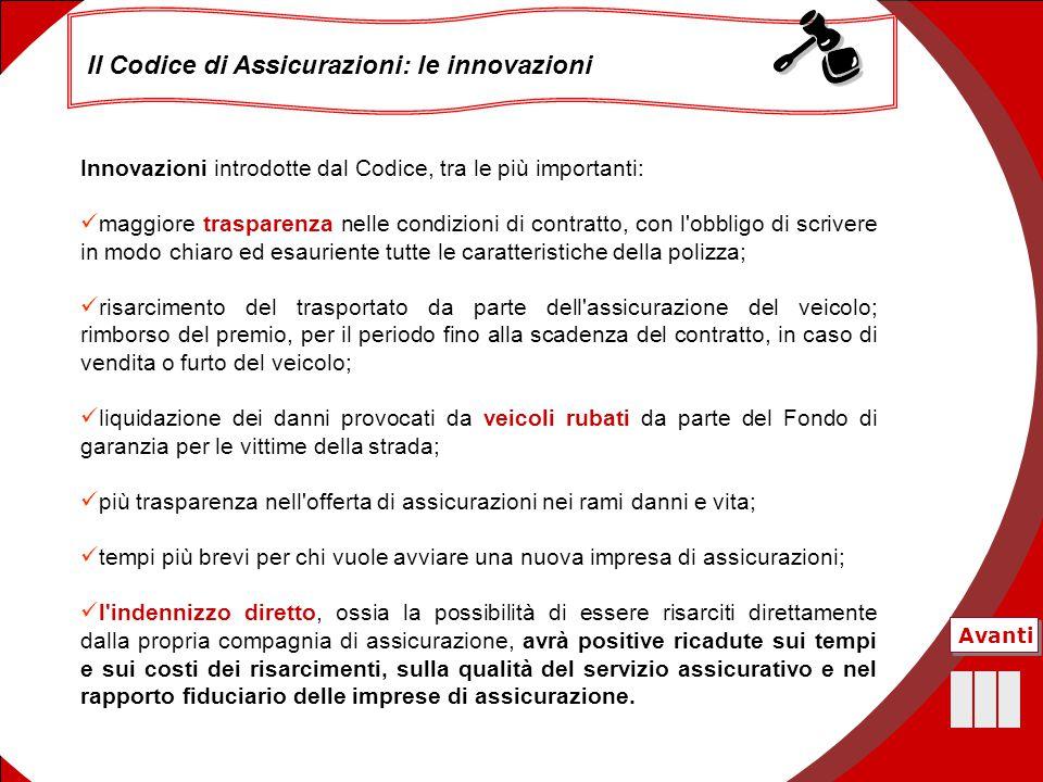 Il Codice di Assicurazioni: le innovazioni