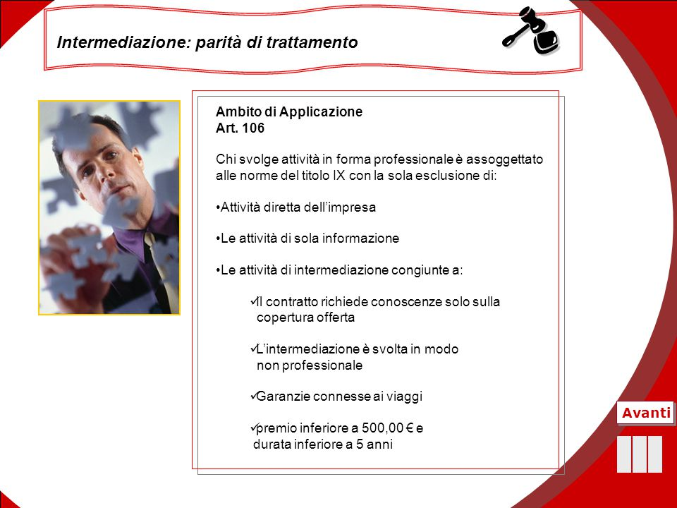 Intermediazione: parità di trattamento