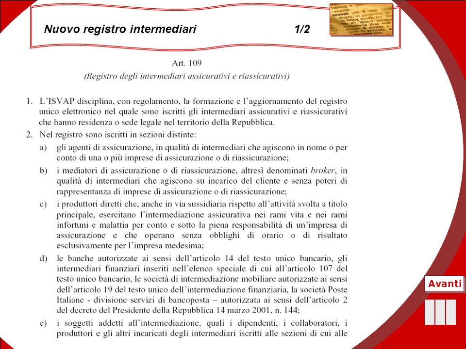 Nuovo registro intermediari 1/2