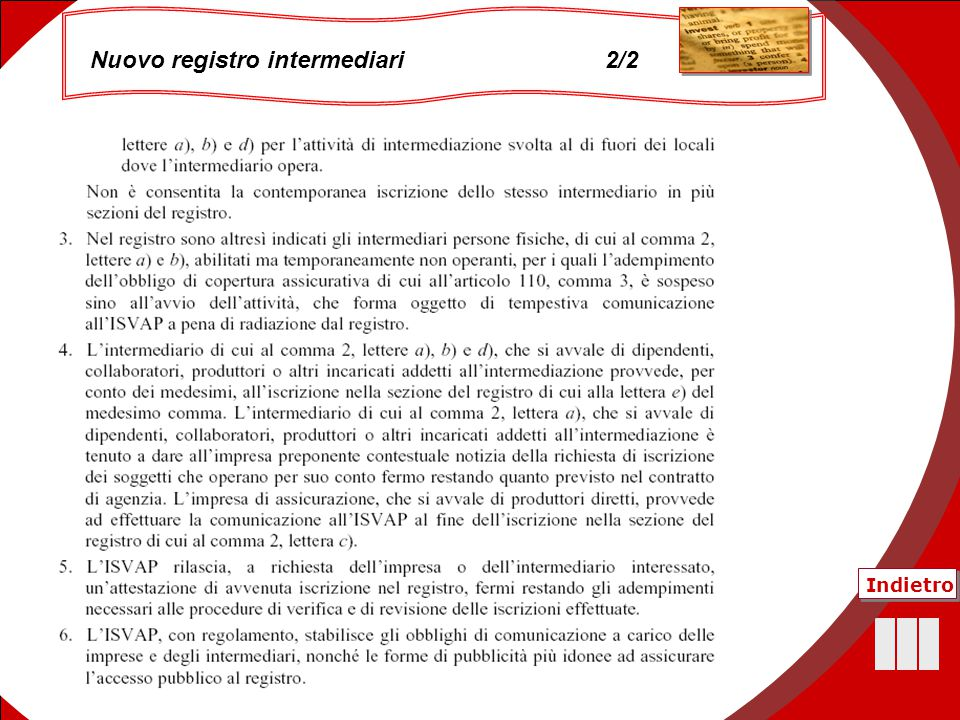 Nuovo registro intermediari 2/2