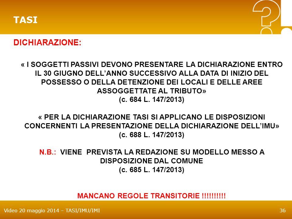 MANCANO REGOLE TRANSITORIE !!!!!!!!!!