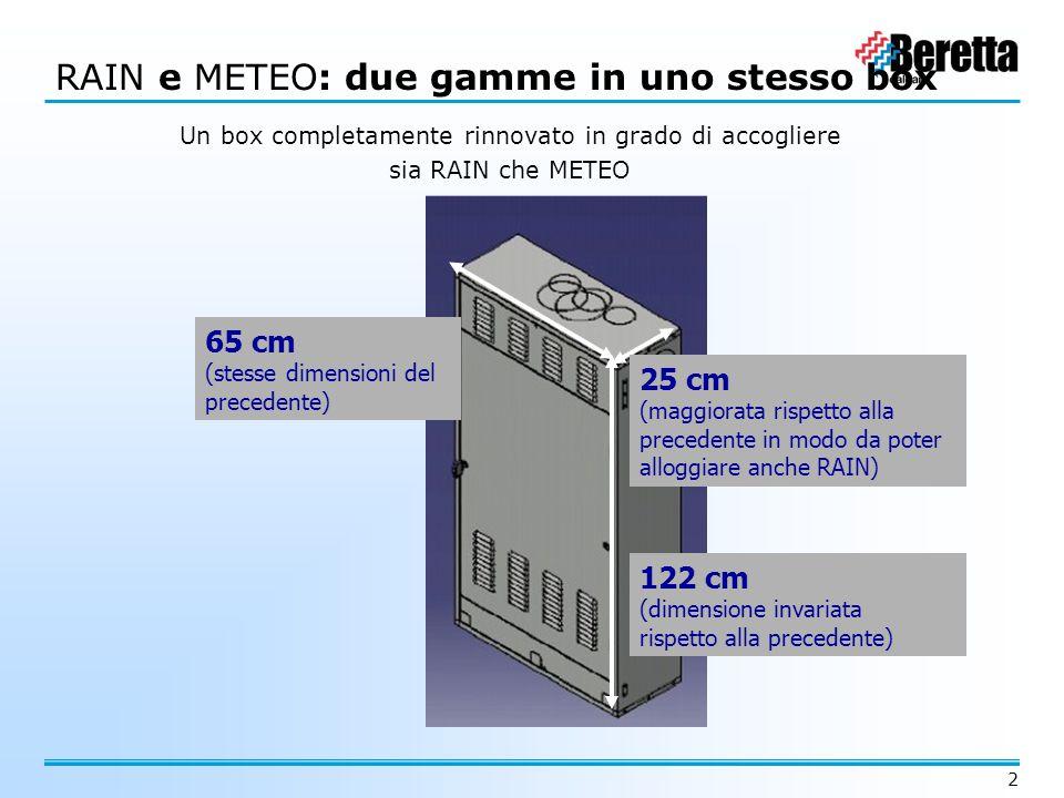 RAIN e METEO: due gamme in uno stesso box