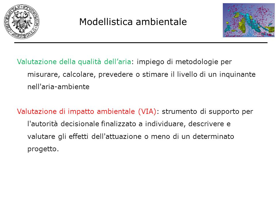 Modellistica ambientale