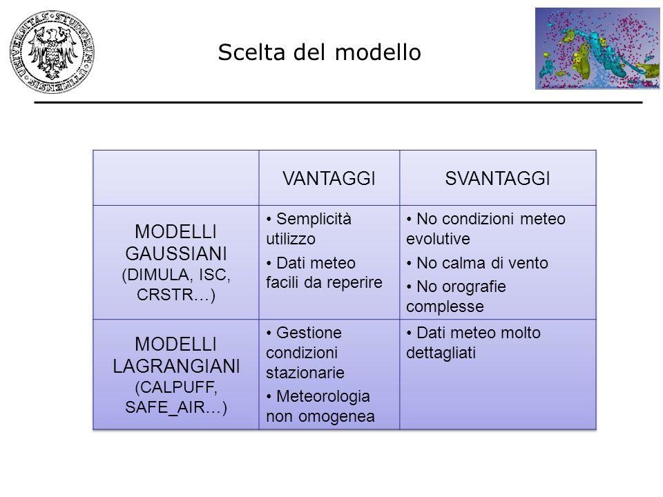 Scelta del modello VANTAGGI SVANTAGGI