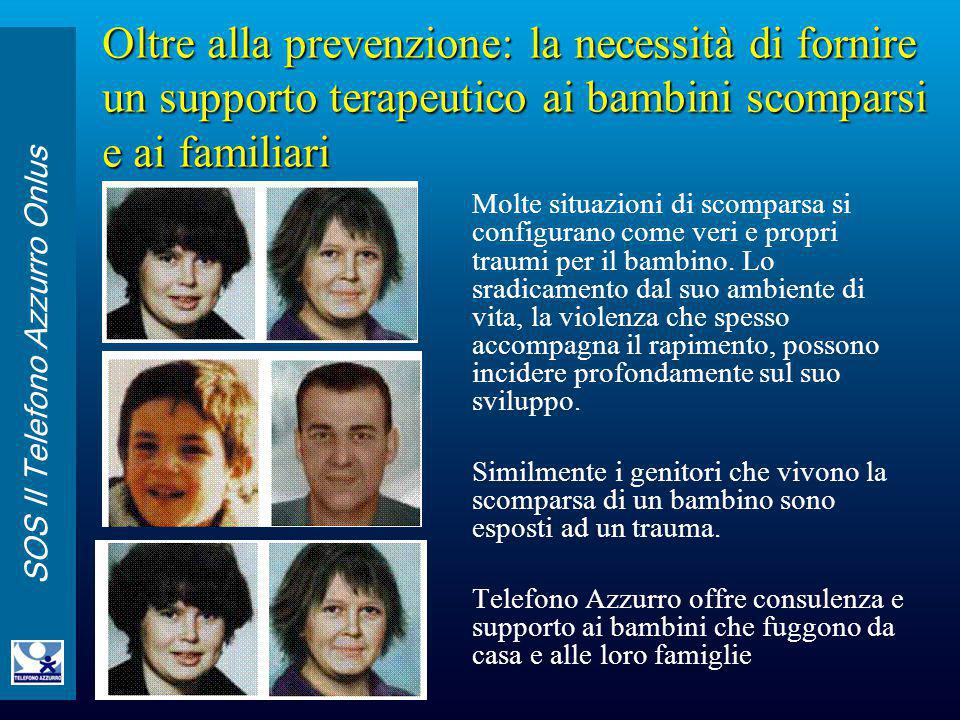 Oltre alla prevenzione: la necessità di fornire un supporto terapeutico ai bambini scomparsi e ai familiari