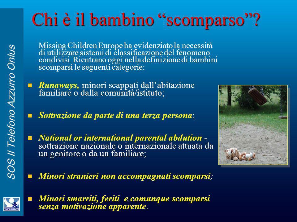 Chi è il bambino scomparso