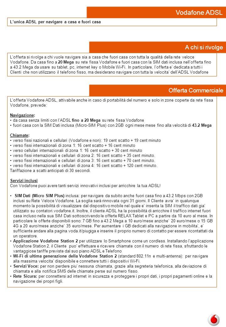 Vodafone ADSL A chi si rivolge Offerta Commerciale