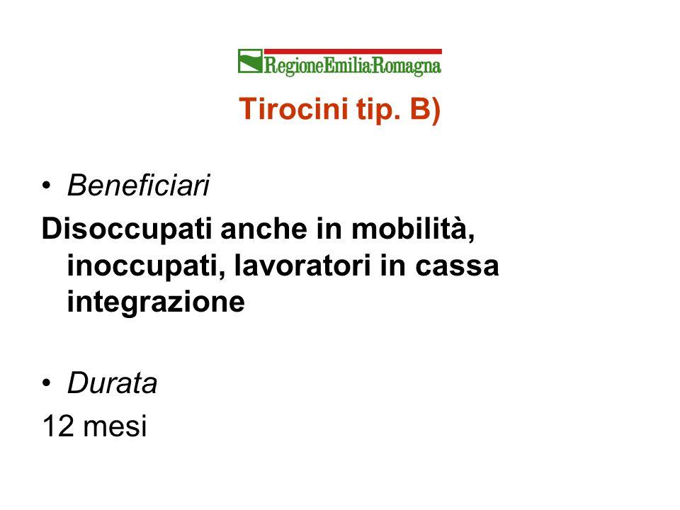 Tirocini tip. B) Beneficiari