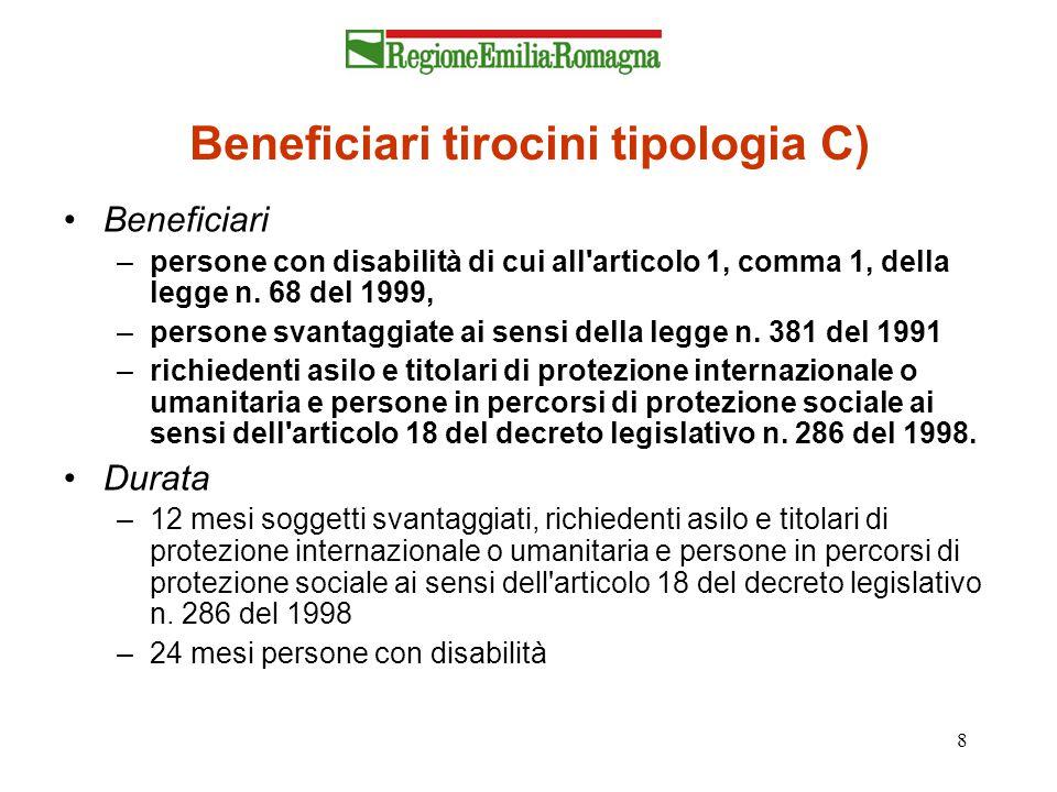 Beneficiari tirocini tipologia C)