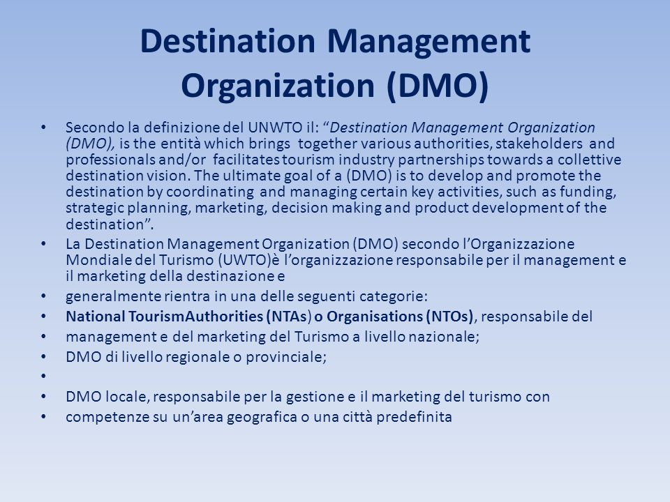 Destination Management Organization (DMO)
